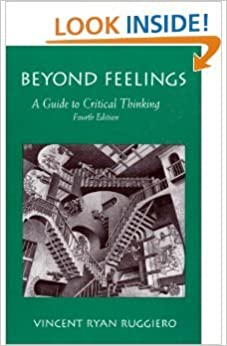 beyond feelings a guide to critical thinking by vincent ryan ruggiero