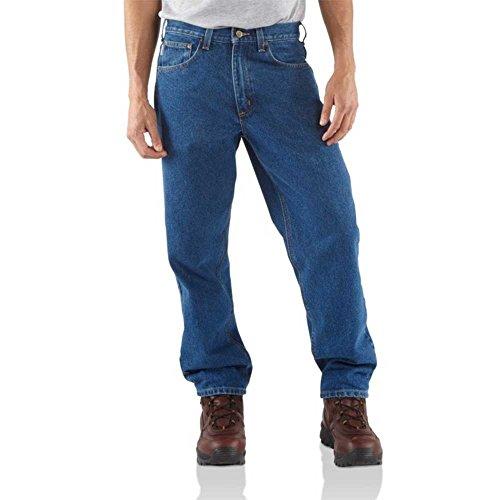 Carhartt Men's B17 Denim Relaxed Fit Jean - 35W x 28L - Darkstone