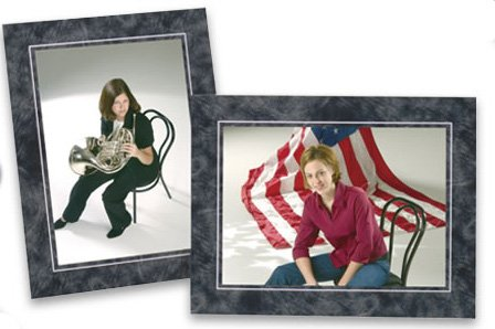 Cardboard Photo Easel Frame - 5x7 - Pack of 50 - Marble Frame