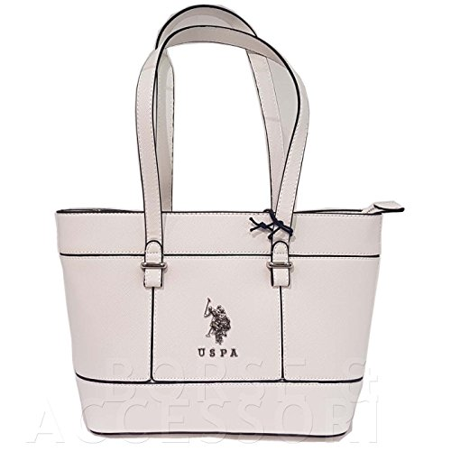 US Polo ASSN Shopping tote Borsa Donna bianco S17S010-01wh