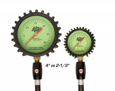 JOES RACING PRODUCTS 32335 4'' TIRE PRESSURE GAUGE, 3-30 PSI