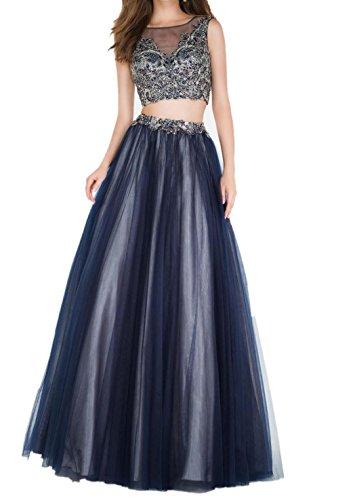 Blau Tuell Ballkleider Promkleider Abendkleider Blau Damen Dunkel Damen Steine Charmant Dunkel Neuheit Festlichkleider AHq4EWRWn