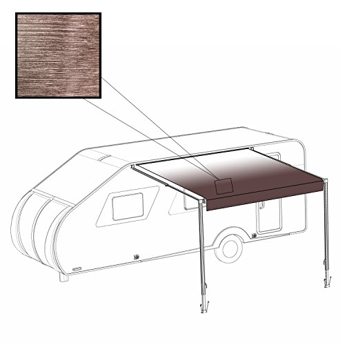 ALEKO 21X8 Feet Vinyl RV Awning Fabric Replacement for Retractable Awning, Brown Fade Color