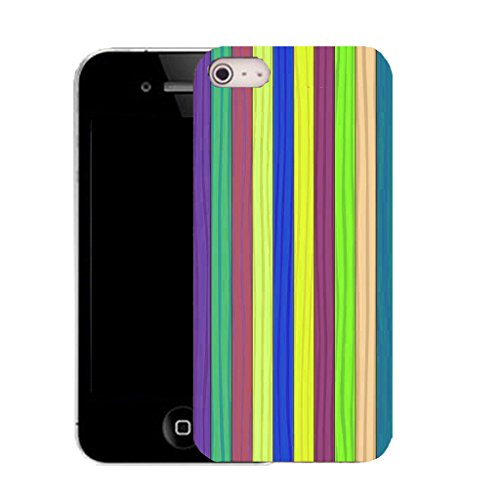 Mobile Case Mate IPhone 5 clip on Silicone Coque couverture case cover Pare-chocs + STYLET - horizontal pattern (SILICON)