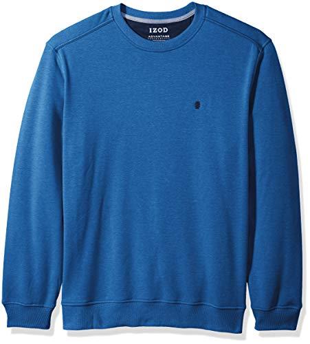 IZOD Men's Advantage Performance Crewneck Fleece Sweatshirt, Bright Cobalt, Large ()