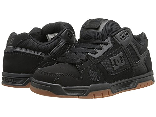 DC Men's Stag Sneaker, Black/Gum, 10.5 D US from DC
