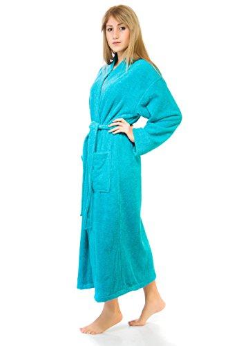 Carpemodo Serie Kimono Albornoz de rizo tamaño s–XXL Certificado Ökotex 100., 100% algodón, verde, xx-large