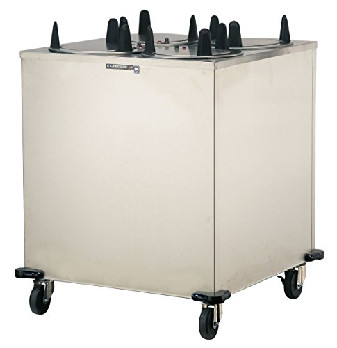 Lakeside 6410 Regular Mobile Plate Dispenser, Stainless Steel Cabinet, 4 Stack, Heated, Accommodates Plates 9-1/4