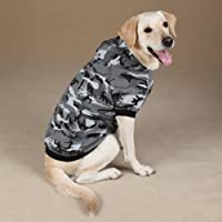 """Sudadera casual con capucha de canino para perros, 20 """"XL, verde"""