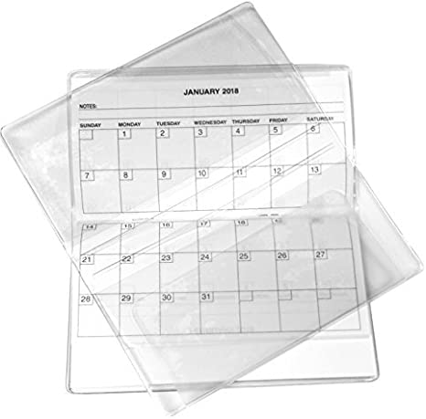 Amazon.com: 2 Year 2020 2021 Clear Vinyl Checkbook Size Calendar