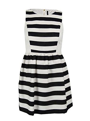 kensie black and white striped dress - 1