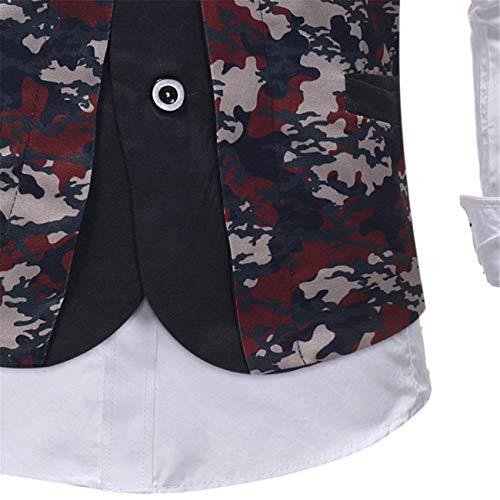 Stampato Blumen Saoye Tuxedo Abito Uomo Da Blazer Fashion Floreale Giovane Vest vBpBqIwr