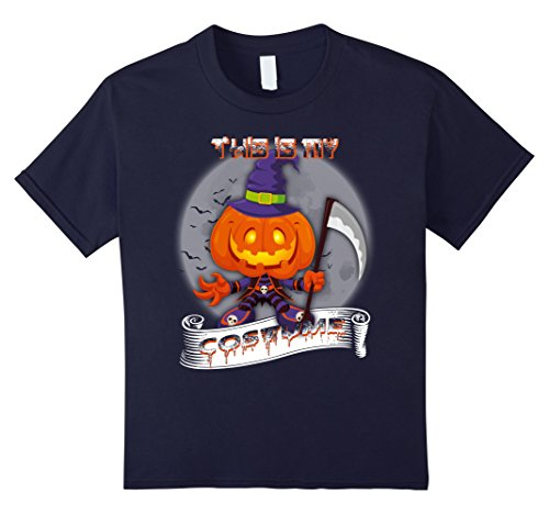 Kids This Is My Costume - halloween T-Shirt 12 Navy - Mom N Son Halloween Costumes