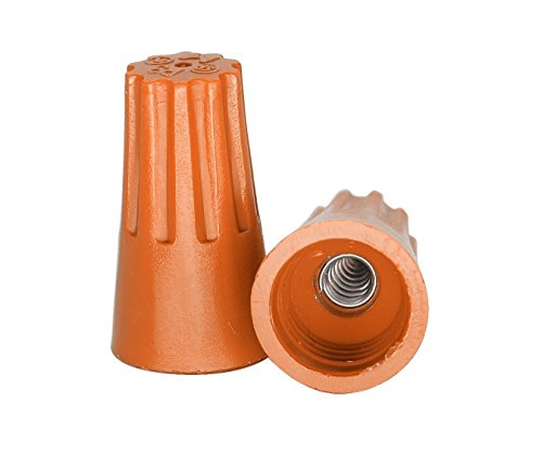 - ezitown 30pcs Wire Screw-on Electrical Wire connectors (22-14AWG, Orange) in one polybag