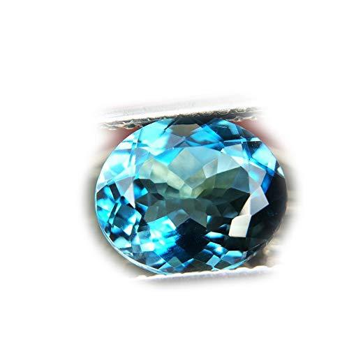 Lovemom 2.86ct Natural Oval Irradiation London Blue Topaz Brazil #R