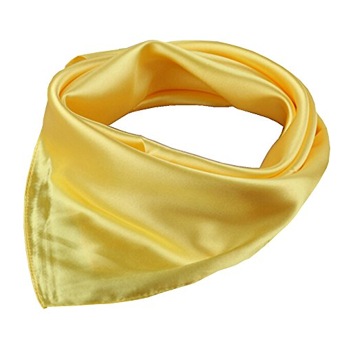 (Women's Solid Color Square Scarf Neckerchief (Yellow))