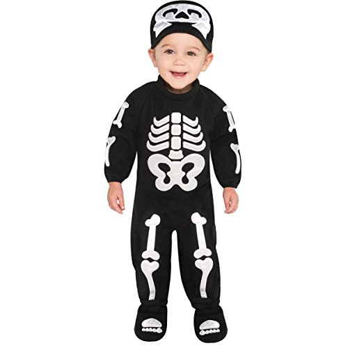 Infant Sized Bitty Bones Costume 6-12 Months - Baby Boy Skeleton Costume