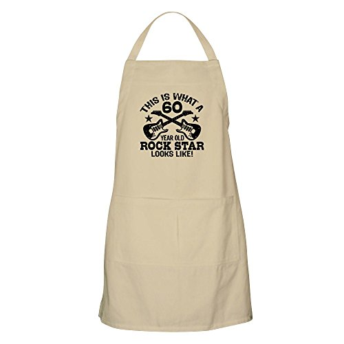 (CafePress 60 Year Old Rock Star Apron Kitchen Apron with Pockets, Grilling Apron, Baking Apron)