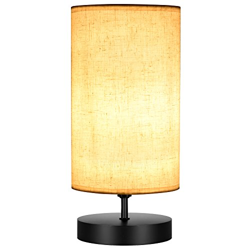 Cheap  Bedside Table Lamp, Oak Leaf Minimalist Solid Wood Table Lamp Round Nightstand..