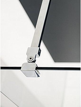 Mampara de ducha fija cristal (8 mm Single 90 x 200: Amazon.es ...