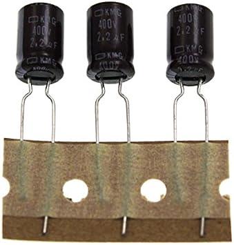 Aerzetix 2x chemischen Elektrolyt-Kondensator 100/μF /± 20/% 250V THT Radial 105C 12000h /Ø16x30mm