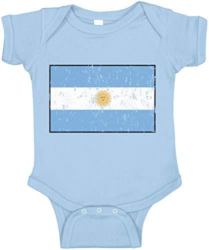 Amdesco Argentina Flag Argentine Infant Bodysuit, Light Blue 18 Month