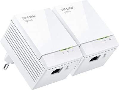 TP-LINK TL-PA6010KIT AV600 Powerline Adapter Starter Kit, Up to 600Mbps, Gigabit Ports, Plug and Play, Power Saving Mode