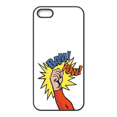 Superhero coque iPhone 5 5s cellulaire cas coque de téléphone cas téléphone cellulaire noir couvercle EEECBCAAN07189