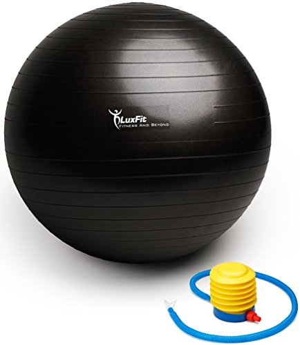 65cm Exercise Fitness Yoga Ball Luxfit Premium Extra Thick