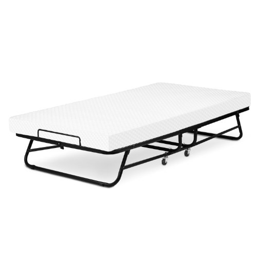 LUCID Rollaway Guest Bed with Memory Foam Mattress - Fold and Hide...