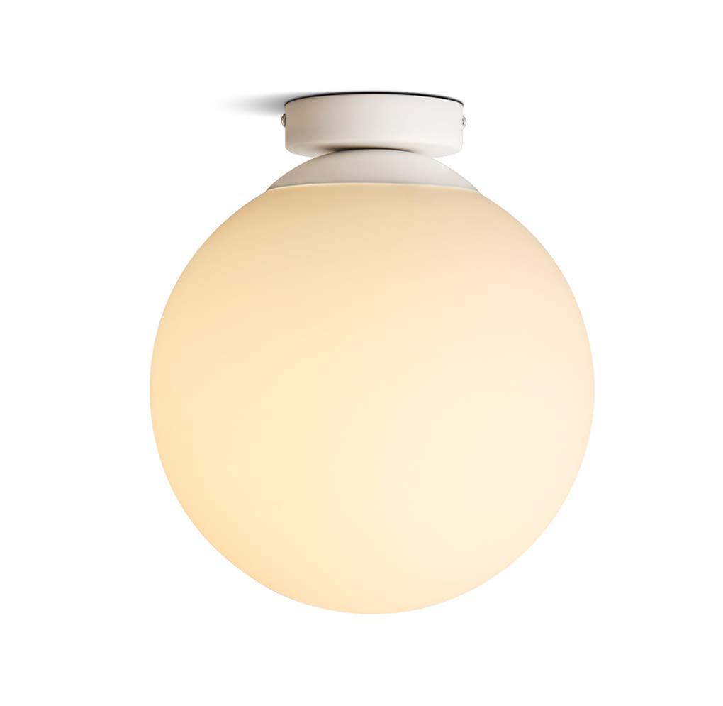 Deckenleuchten, Nordic sphärisch Milch weißes Glas Deckenleuchte Creative Aisle Balkon Deckenleuchte Persönlichkeit Bekleidungsstück Lichter E27 Lampenfassung (Größe   Diameter 15cm)