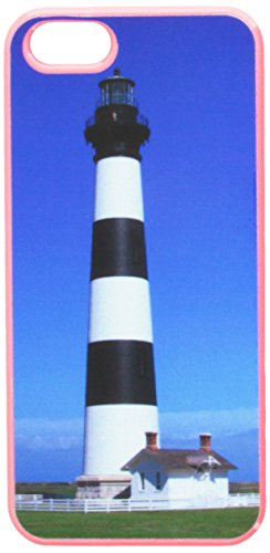 (Graphics and More Bodie Island Lighthouse North Carolina Snap-On Hard Protective Case for Apple iPhone 5/5s - Non-Retail Packaging - Pink)
