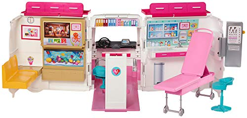 Barbie Care Clinic Vehicle is a popular toy for girls