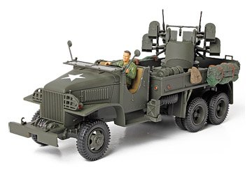 Unimax Forces of Valor 1/32 GMC 2.5 Ton Cargo Truck with 4x0.5 AA Machine Gun Assembled Diecast Military Model
