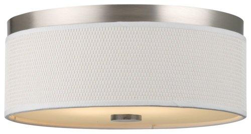 Forecast Lighting F615036NV Cassandra 2 Light Flush Mount, Satin Nickel -