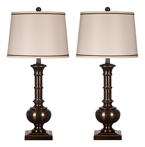 Ashley Furniture Signature Design - Oakleigh Metal Table Lamps -  Set of 2 - Bronze