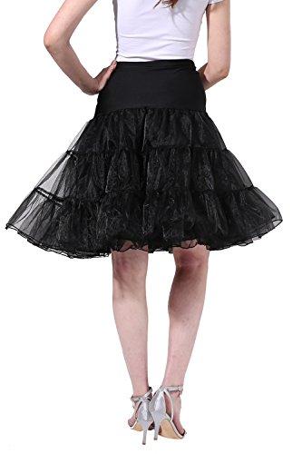 Poplarboy 50er Vintage Petticoat Reifrock Unterrock Wedding Bridal Petticoat Underskirt Crinoline für Rockabilly Kleid In Mehreren Farben Schwarz eabgaRCnV