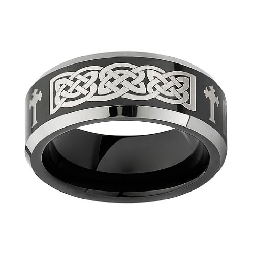 Wedding Band Series: 8MM Wellingsale® LUXE Series Comfort Fit Wedding Band Ring