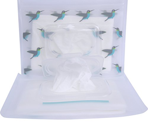 BITTY Butipod Flip Top Wipes Case (2 pack, Hummingbirds Clear)