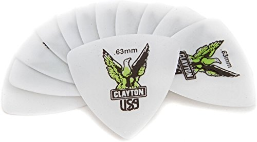 (Clayton Acetal Rounded Triangle Picks 12-pack .63mm)