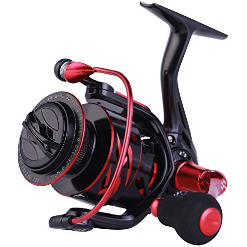 Sougayilang Spinning Reels Ultra-Light, 6.2: 1 High Speed Gear Ratio, Metal Frame and Rotor, 12 + 1 Shielded BB, Smooth Powerful Freshwater and Saltwater Spinning Fishing Reel