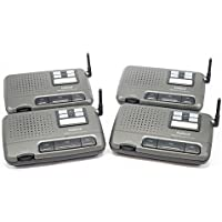 4 Channel FM Wireless Intercom for Home Office Shop Charcoal 4 station