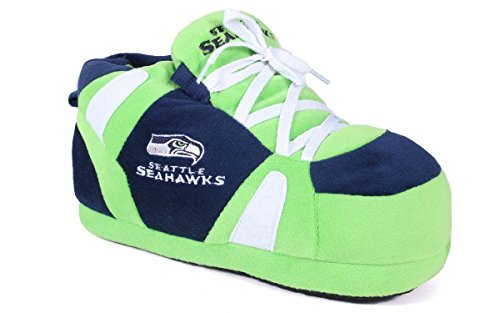 Comfy Feet SEA01-4 - Seattle Seahawks - XL - Happy Feet NFL Slippers by Comfy Feet