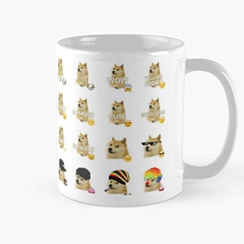 5TheWay Memes Doge Inu Shiba Mug Blanca 15 onzas para Todos/… Taza de caf/é de Regalo de Moda Superventas Negra Cambia de Color 11 onzas