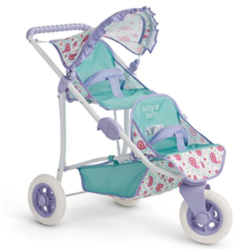 American Girl Bitty's Double Stroller for 15 Inch Dolls New! by AG