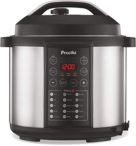 Preethi Touch EPC005 6-Liter Electric Pressure Cooker (Black)