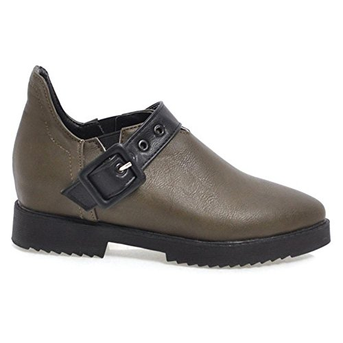 COOLCEPT Women Fashion Slip On Shoes Thick Sole Green HdEgif0Yd2