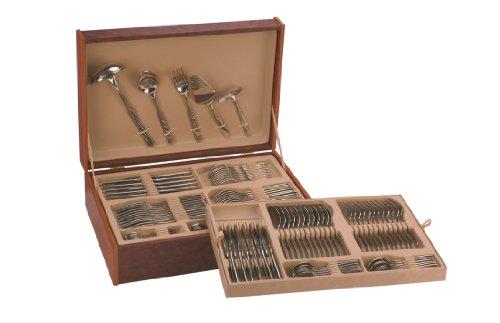 Monix-Venecia-Set-113-piezas-cubiertos-de-acero-inox-1810-con-estuche-nogal