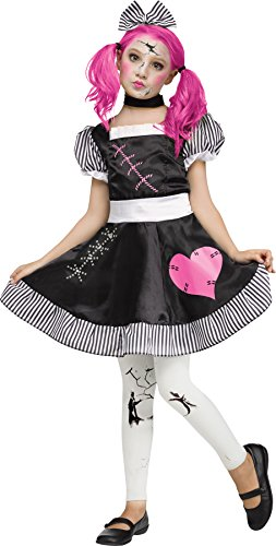 UHC Girl's Broken Zombie Rag Doll Theme Outfit Child Halloween Costume, Child S (4-6)