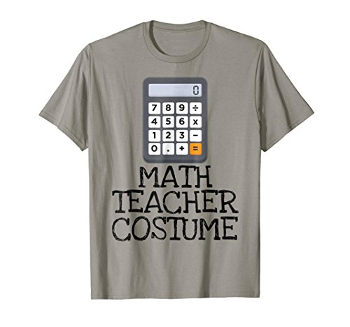 Math Teacher Costume Tshirt Halloween High School Calculator -